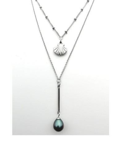 """Collier """"Shell & Pearl """""""