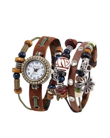 HIPPIE CHIC - Set Montre et bracelet Boho