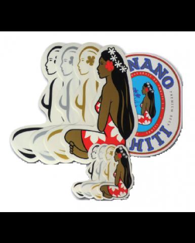 Pack of all Hinano Tahiti Stickers Designs
