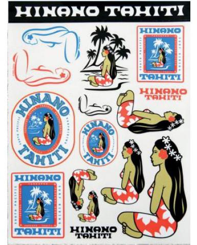 Stickers Kit with Hinano Tahiti designs.
